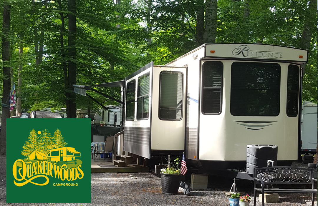 This is a photo of the wonderful campgrounds and the spacious sites available.